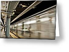 Subway Blur Greeting Card