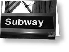 Subway Greeting Card