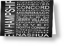 Subway New Hampshire State Square Greeting Card
