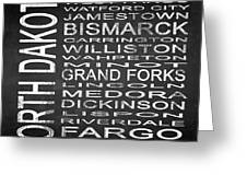 Subway North Dakota State Square Greeting Card