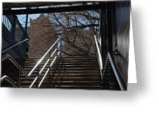 Subway Stairs Greeting Card