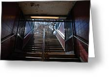 Subway Stairs To Freedom Greeting Card