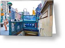 Subway Station Entrance 2 Greeting Card