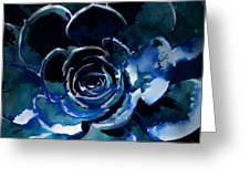 Succulent In Blue Greeting Card