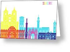 Sucre Skyline Pop Greeting Card