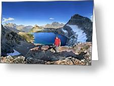 Sue Lake Overlook 2 - Glacier National Park Greeting Card