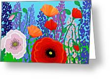 Sue's Flower Bed Greeting Card