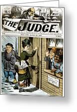 Suffrage Cartoon, 1884 Greeting Card