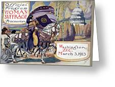 Suffragette Parade, 1913 Greeting Card
