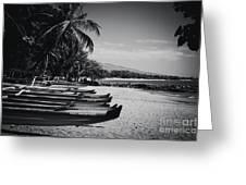 Sugar Beach Hawaiian Outrigger Canoes Kihei Maui Hawaii  Greeting Card