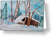 Sugar Bush Ripon Quebec Greeting Card