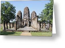 Sukhothai Khmer Sanctuary Greeting Card