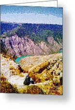 Sulak Canyon Greeting Card