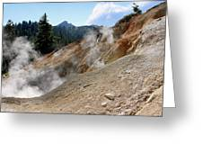 Sulfur Works In Lassen Volcanic Park Greeting Card by Christine Till