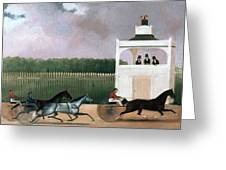 Sulky Race Greeting Card