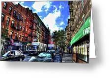 Sullivan Street In Greenwich Village Greeting Card by Randy Aveille