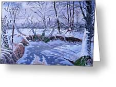 Sulphur Creek Snowfall Greeting Card