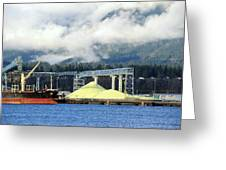 Sulphur Pile Greeting Card