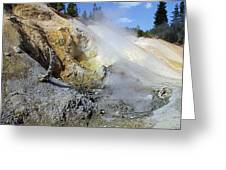 Sulphur Works - Lassen Volcanic National Park Greeting Card by Christine Till