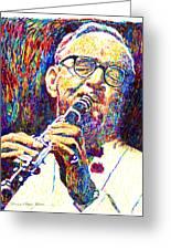 Sultan Of Swing - Benny Goodman Greeting Card by David Lloyd Glover