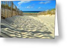 Sultry September Beach Greeting Card
