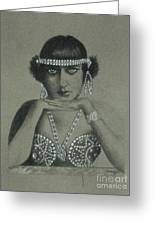 Sultry Silent Star -- Portrait Of Silent Film Star Greeting Card