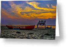 Summer Sunset In Cape May Nj Greeting Card