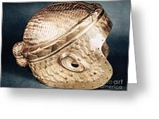 Sumerian Gold Helmet Greeting Card