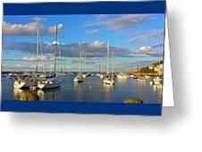Summer Afternoon At Rockport Harbor Greeting Card
