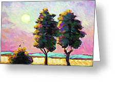 Summer Afternoon In The Fields Greeting Card