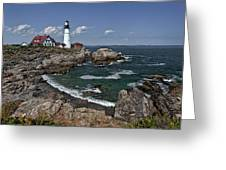 Summer Afternoon, Portland Headlight Greeting Card