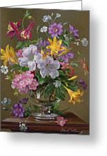 Summer Arrangement In A Glass Vase Greeting Card