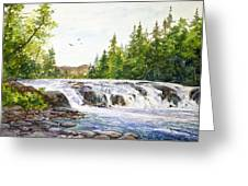 Summer At Buttermilk Falls Greeting Card