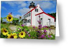 Summer At East Point Light Greeting Card