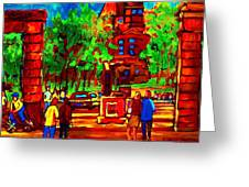 Summer At Mcgill University Greeting Card