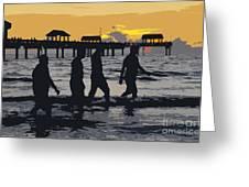 Summer At The Beach Greeting Card
