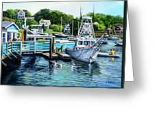 Summer At The Madfish Wharf Greeting Card