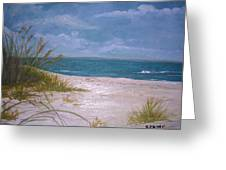 Summer Beach And Sea Grasses Greeting Card