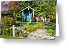 Summer Beach House Greeting Card