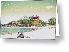 Summer Beach Sunshine Greeting Card