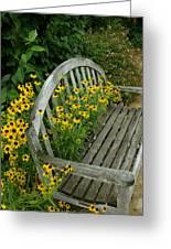 Summer Bench Greeting Card