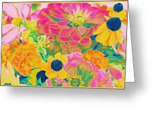 Summer Blossoms - Pop Art Greeting Card