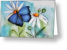Summer Blue Greeting Card