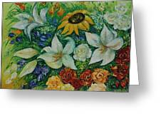 Summer Bouquet - Left Part Of Diptych. Greeting Card