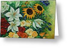 Summer Bouquet - Right Part Of Diptych. Greeting Card