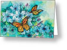 Summer Butterflies Greeting Card