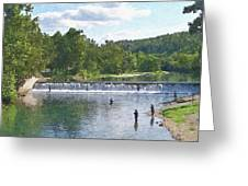 Summer By The Spillway Greeting Card