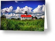 Summer Clouds At East Point Greeting Card