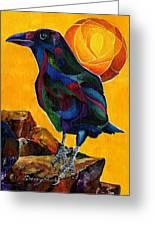 Summer Crow 2 Greeting Card