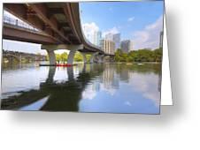 Summer Day At Lady Bird Lake In Austin Texas 1 Greeting Card